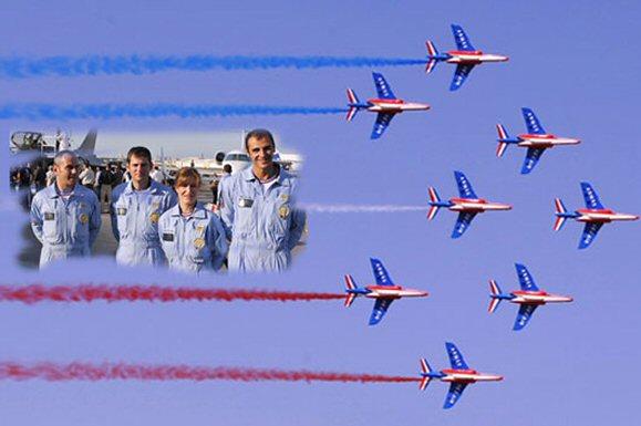 Arabesques tricolores dans le ciel de Dubai