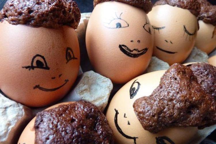 La recette des œufs au gâteau au chocolat !