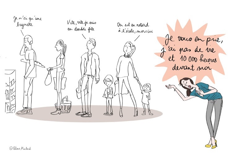 Billet d'humour : la file d'attente !