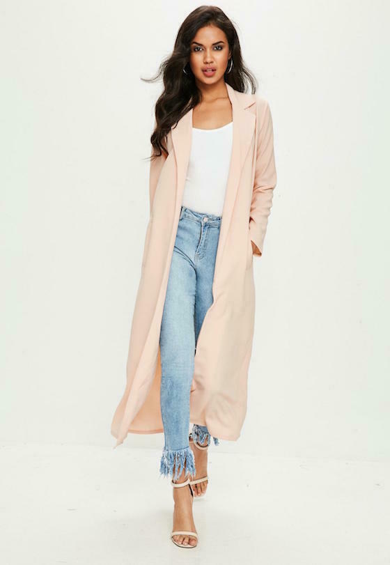 Duster nude Missguided