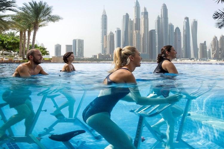 Sport en plein air : nous avons testé les cours d'Aquaspin !
