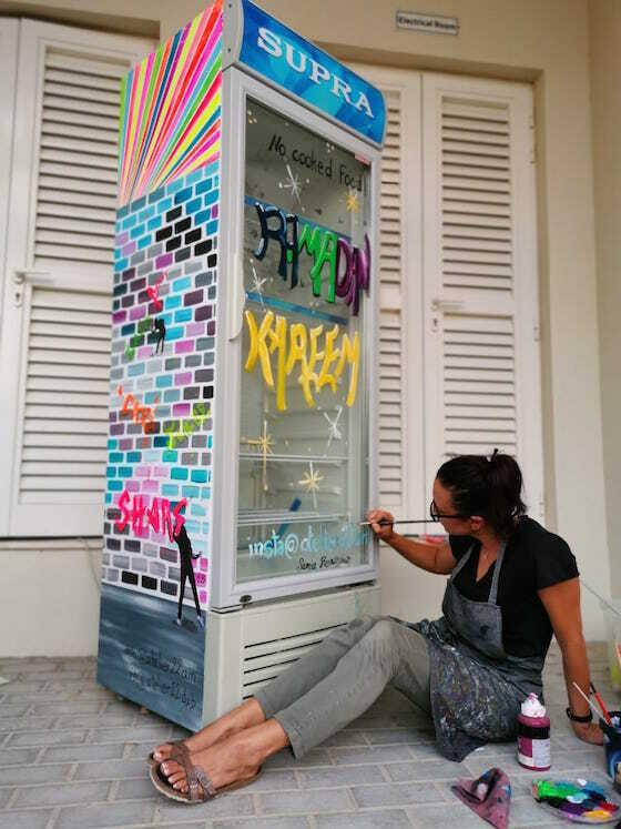 Ramadan sharing fridge dubai artiste