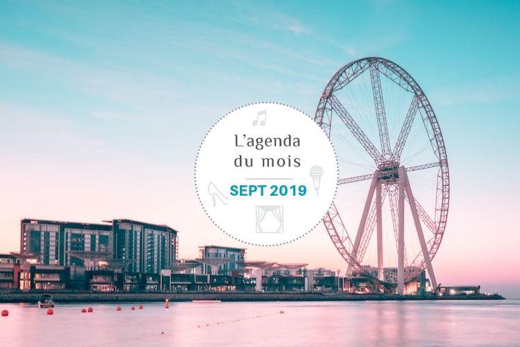 Agenda du mois de SEPTEMBRE 2019 !