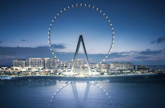 Ain Dubai la plus grande roue du monde à Bluewaters Island. Dubai