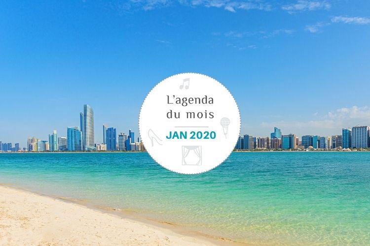 Agenda du mois de janvier 2020 – Abu Dhabi