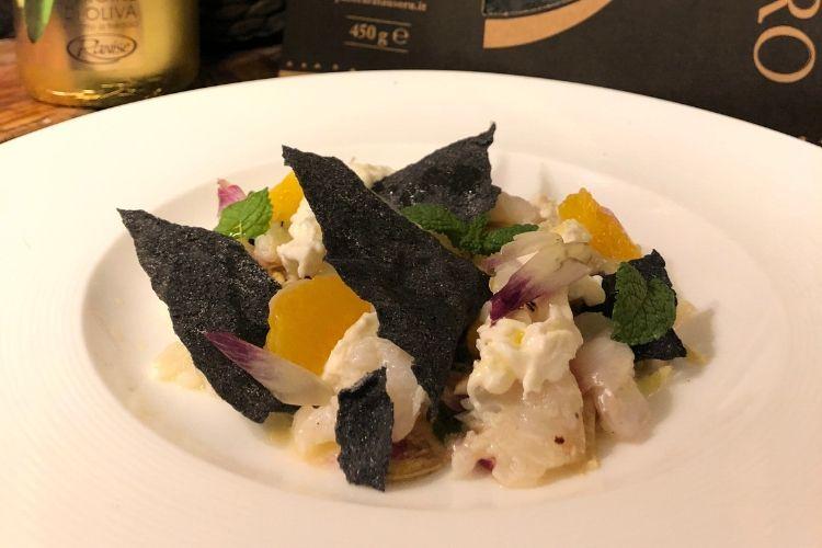 Recette de chef : Carpaccio de colin à la burrata et à l'artichaut par le Chef Andrea et Classic Deli !