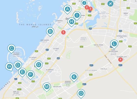 Les quartiers de Dubai