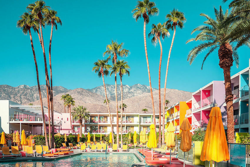 Palm Springs Yellow Korner photography