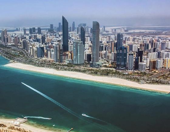 Vue de la corniche Abu Dhabi