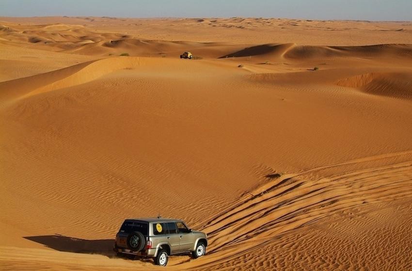 désert de dubai, sortie en 4x4