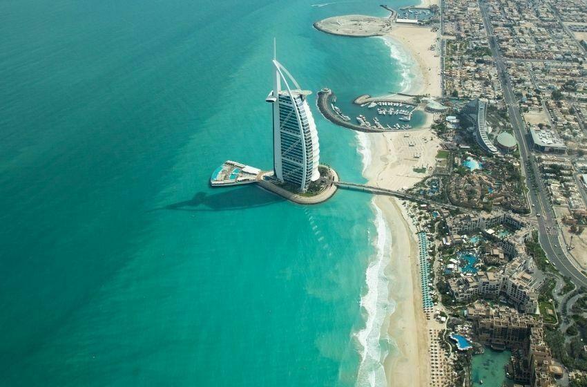 Burj Al Arab Dubai, vue du ciel