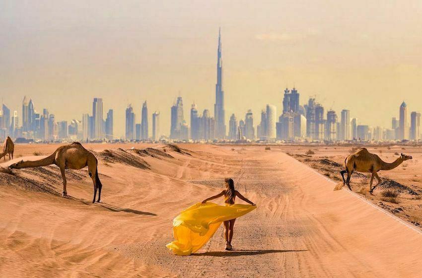 Shooting de rêve : découvrez Dubai Flying Dress Official !